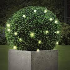 Artificial Pyramid Cone Tree With Solar Powered LED Lights Artificial Topiary Trees With Solar Lights