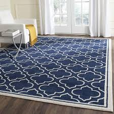 com safavieh amherst collection amt412p navy and ivory indoor outdoor area rug 10 x 14 kitchen dining