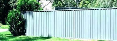 corrugated metal privacy fence custom privacy fence