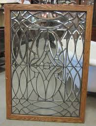 beveled leaded glass window