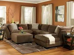 Living Room Ideas With Sectionals Brown Theme Sectional Throughout Simple
