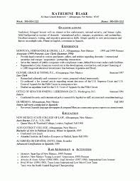 Bilingual Resumes Lawyer Resume