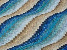 My vision of a beach quilt; created for my ocean loving daughter ... & This pattern comes from the book -