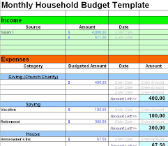 sample household budget free sample budget spreadsheet leave debt behind