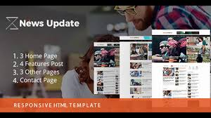Newspaper Html Template News Update Newspaper Blog Template Themeforest Website