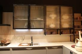 interior cabinet lighting. marble kitchen with frosted glass for cabinet doors and led under lighting interior n