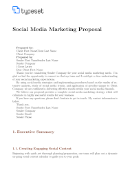 Social Media Proposal Template Proposals Social Media Marketing Proposal Template