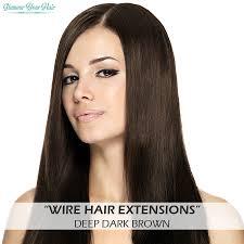 Wire Hair Met Laagjes Wire Hair Deep Dark Brown
