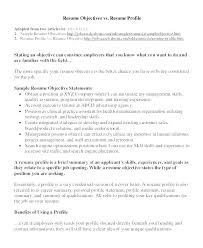 Professional Profile In Resumes Sample Profiles For Resume Resume In Example How To Write A