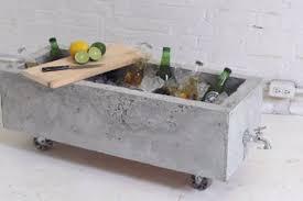 Big Concrete Planters Diy Concrete Planter Doubles As An Industrial Chic Drink Cooler