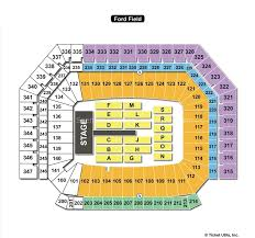 Ford Field Seating Chart View Ford Field Detroit Mi Seating Chart View