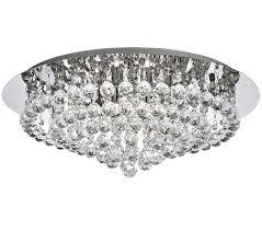 searchlight hanna 8 light semi flush ceiling light chrome finish with clear crystal 3408 8cc