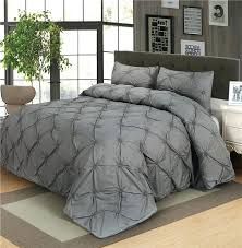 luxury duvet sets luxury duvet cover set grey pinch pleat 2 twin queen king size luxury