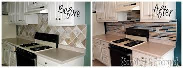 Painting Kitchen Tile Backsplash Classy How To Paint A Backsplash To Look Like Tile Reality Daydream
