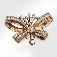<b>Брошь</b> «Бабочка» СССР с <b>бриллиантами</b> из золота 583 пробы ...