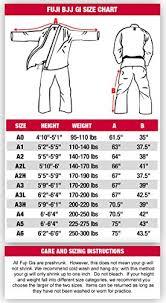 Karate Uniform Size Chart Fuji Bjj Uniform Buy Online In Uae Sports Products In