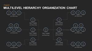 Multilevel Hierarchy Organization Chart Template For