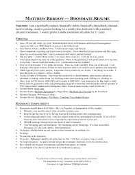 matthew robisons roommate resume nyc 2013 - Mckinsey Resume Format