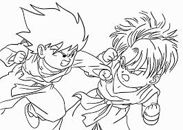 Printable Dragon Ball Z Coloring Pages Coloring Pages