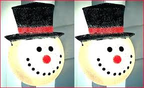 light up snowman outdoor decoration these plastic snowman for outdoors four ornaments choir boys light up