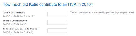 8889 form 2016 for hsa it is asking for total contributions from my spouse c