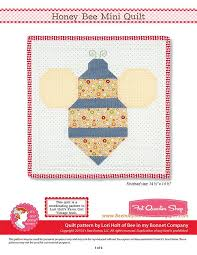 Honey Bee Downloadable PDF Mini Quilt Pattern Bee in my Bonnet ... & Honey Bee Downloadable PDF Mini Quilt Pattern Bee in my Bonnet Adamdwight.com