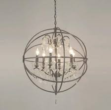 rustic orb chandelier rustic orb chandelier good furniture regarding new household in rustic iron and crystal