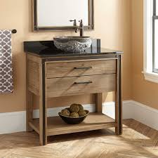 36 Celebration Vessel Sink Vanity Rustic Acacia Bathroom
