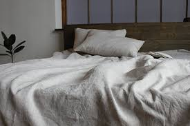 pure linen duvet cover in natural linen oatmeal white off white or grey