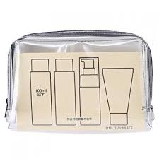 muji tpu clear case durable quart size plastic bag for travel liquids