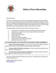 Walk A Thon Form Wat Information Packet 2018 By San Jose Christian School Issuu