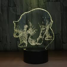 Goede Kopen 7 Kleuren Ijsbeer Dier 3d Led Lamp Usb 5 V 3aa Batterij