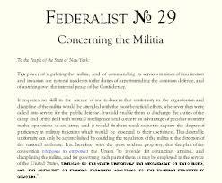 the second amendment federalist no concerning the militia the second amendment federalist no 29 concerning the militia kakistocracy report