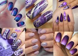 Purple And Teal Nail Designs Stunning Purple Nail Designs For 2019