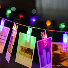 mini led diy photo clip string lights battery operated lights new year party wedding home decoration 1 2m 2 2m 4 2m fairy lights battery led