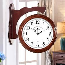 two sided wall clock love time double sided wall clock two sided clock living room style