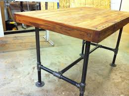 Industrial Kitchen Table Furniture Reclaimed Industrial Kitchen Island Dining Table Featuring Antique