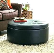 round leather ottoman. Black Leather Tufted Ottoman Round Wonderful Coffee Table