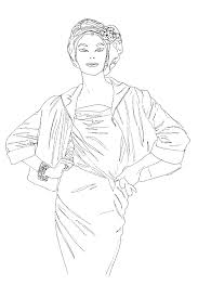 From The Vogue Colouring Book