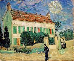 white house at night 1890 vincent van gogh this painting was created on june 1890 at around pm in the small town of auvers sur oise by van gogh