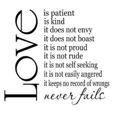 Love Is Patient Quote Adorable Amazon Love Is Patient Love Is Kind 48x48 Vinyl Wall Sayings
