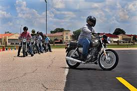 Motorcycle Display Stand 100th kick starts motorcycle safety course 100th Airlift Wing 66