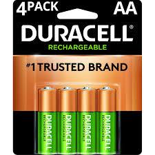 Duracell 1 2v Rechargeable Alkaline Aa Batteries 4 Pack Walmart Com