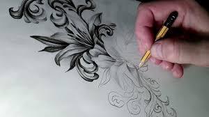 эскиз тату поэтапнокак нарисовать лилии рисунок простым карандашом