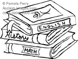 clip art ilration of a text books stack clipart book black and white
