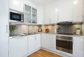 small white kitchens with white appliances. Fine Kitchens Small Kitchen With White Cabinets Image Of Elegant  Ideas Designs In Small White Kitchens With Appliances L