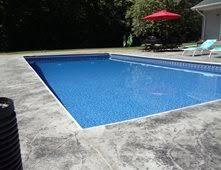 Gray Stamped Pool Deck Concrete Pool Decks Northern Concrete Denmark, WI
