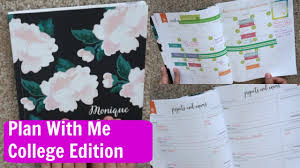 College Academic Planners How To Use Erin Condren Academic Planner Plan With Me College