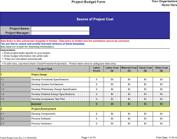 Free Project Budget Template Xls 66kb 15 Page S