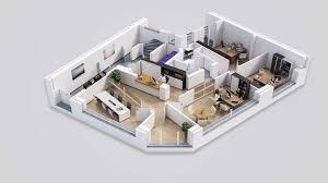 3D Floor Plan Office Drawbotics Open Fullscreen